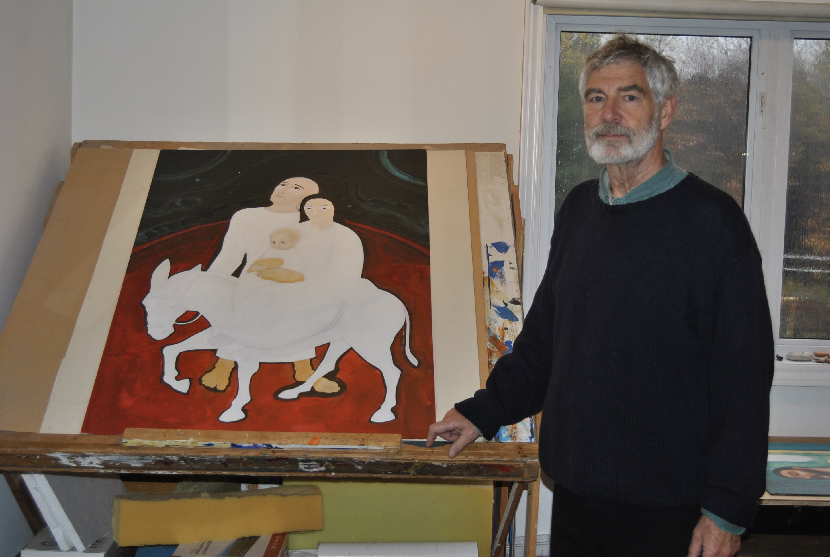 Michael with painting